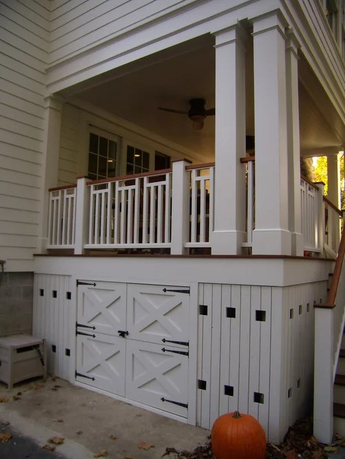 Under Deck Storage Ideas, Pictures, Remodel and Decor on Under Deck Patio Ideas id=73065