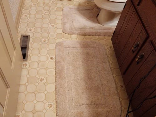 large size tile for small bathroom floor