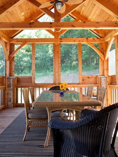 Timber Frame Deck Houzz
