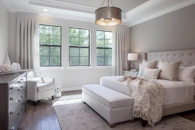 Transitional Bedroom by Cinnabar Design