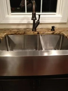 kitchen sink and faucet placement
