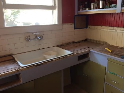 large scale tile countertops