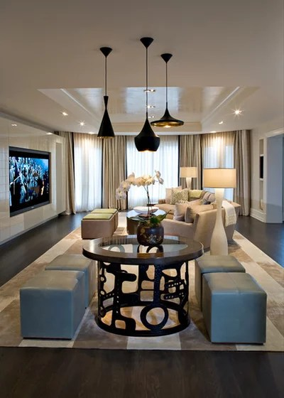 Contemporary Home Theater by Jim Tetro