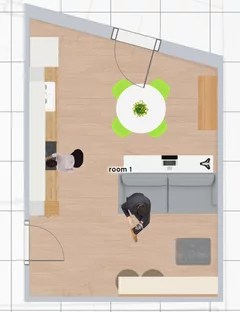 Il soggiorno gode invece dello spazio a tutta altezza. Consiglio Cucina E Soggiorno 18mq