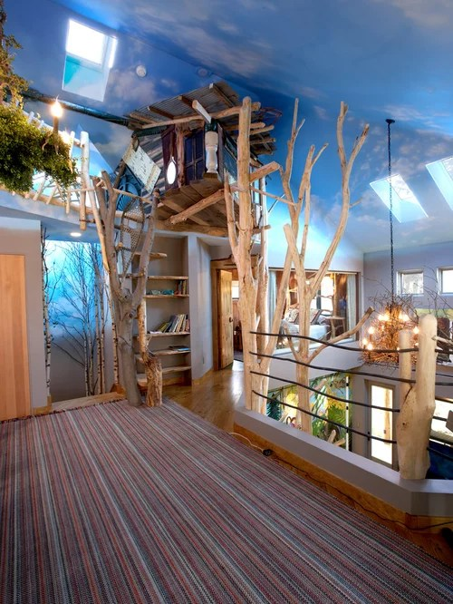 Indoor Treehouse Home Design Ideas Pictures Remodel And