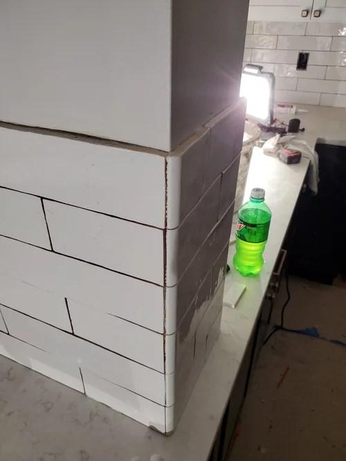 tile backsplash pencil rail trim