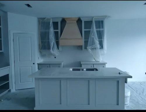 kitchen sink island off center with