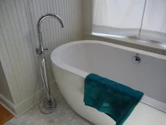 put a tub filler for a freestanding tub