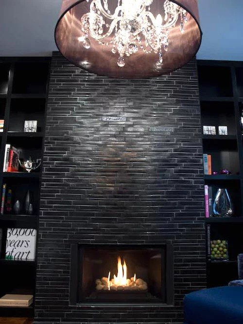 Black Stone Fireplace Ideas Pictures Remodel And Decor