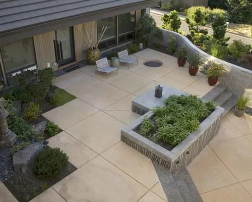 Square Concrete Patio | Houzz on Square Patio Designs id=38906