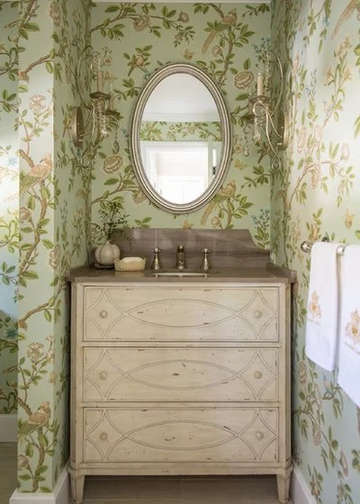 Shabby-chic Style Powder Room by www.ShannonGgem.com