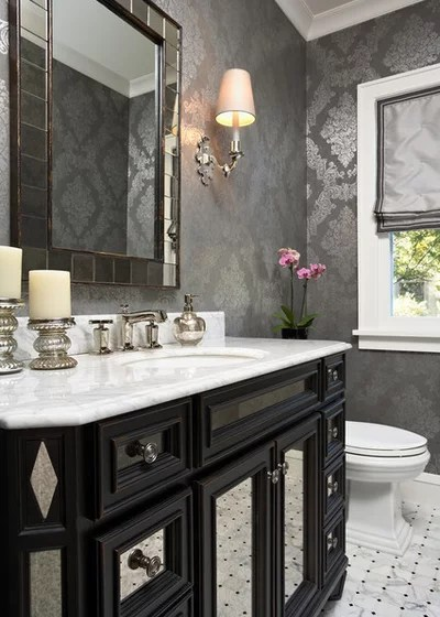 Traditional Powder Room by Elsie Interiors