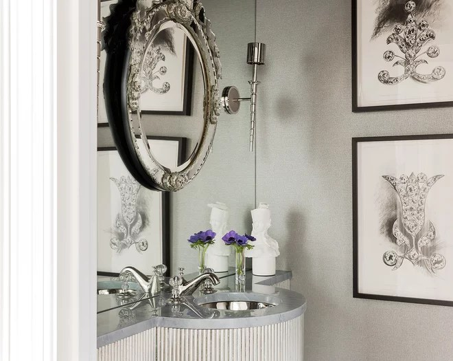 Traditional Powder Room by Cynthia Driscoll Interiors