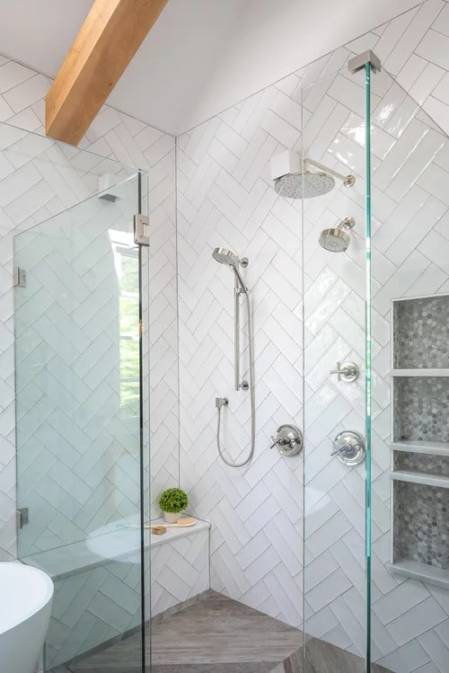 double herringbone tile size and grout
