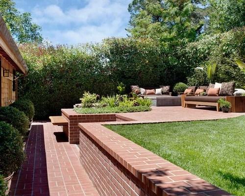 Two Tiered Backyard | Houzz on Tiered Yard Ideas  id=33617