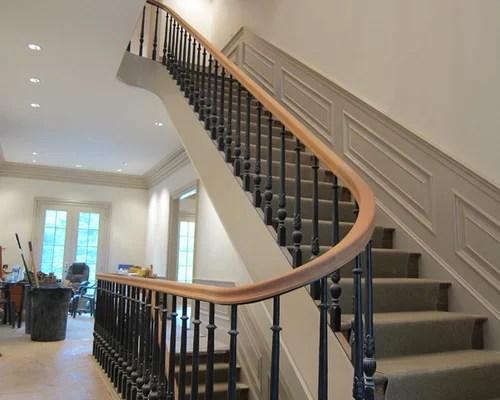 Mahogany Handrail Staircase Design Ideas Renovations Photos | Mahogany Handrails For Stairs