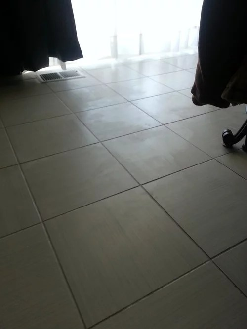 i waxed my no wax ceramic tile please