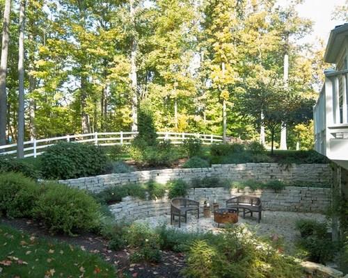 Two Tiered Backyard | Houzz on Tiered Yard Ideas  id=47146