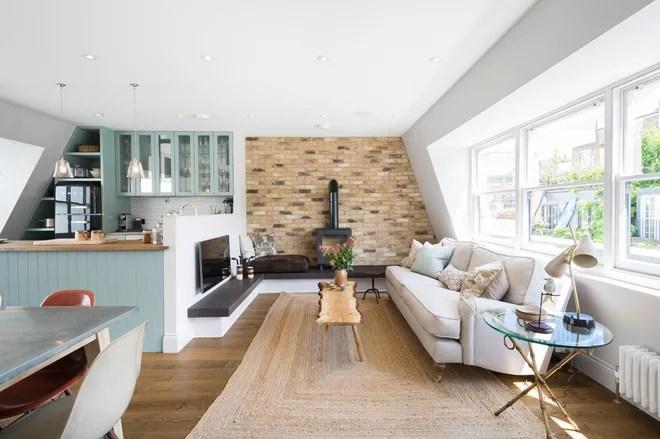 Farmhouse Living Room by Domus Nova