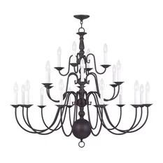 Livex Lighting Inc 5015 07 Williamsburg Chandelier In Bronze Chandeliers