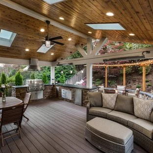 75 Beautiful Large Deck Pictures & Ideas - July, 2020   Houzz on Backyard Patio Extension Ideas id=83694