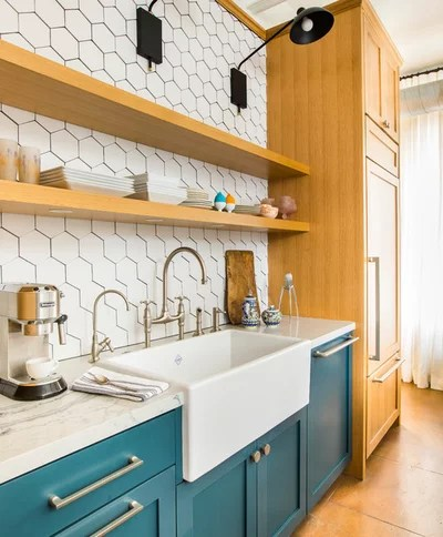 Transitional Kitchen by Breathing Room Design
