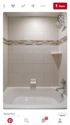 12x24 tile layout on shower walls