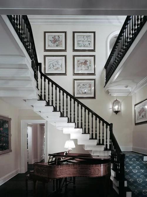 Mahogany Handrail Grand Staircase Houzz | Mahogany Handrails For Stairs