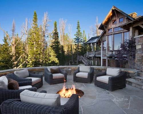 Recessed Fire Pit Home Design Ideas, Pictures, Remodel and ... on Unlevel Backyard Ideas id=39273