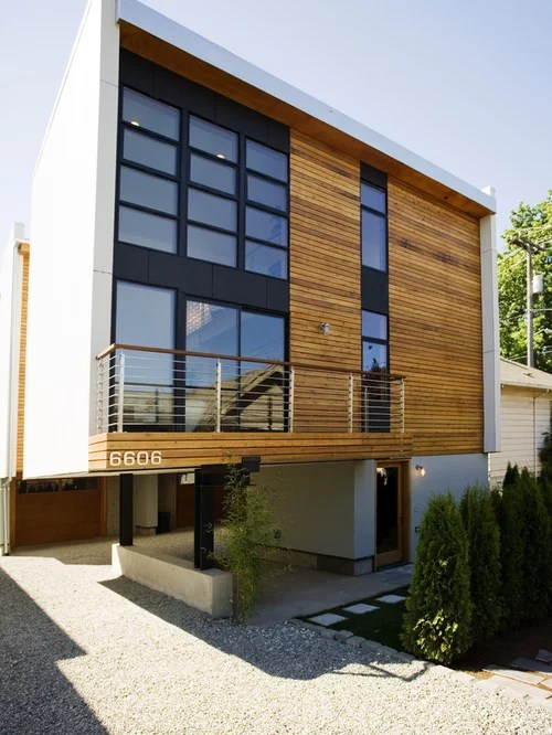 Best Natural Wood Siding Design Ideas & Remodel Pictures ... on Siding Modern  id=89803