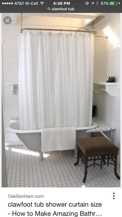 do i need a clawfoot tub shower curtain