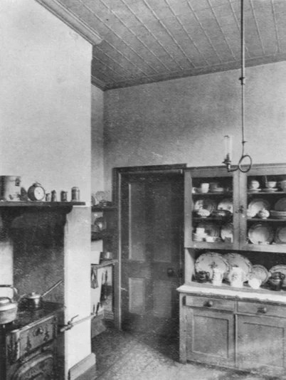 Interior view of a kitchen in 1906