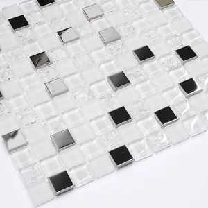 https www houzz com products volcanic luxe interlocking pattern glass metal mosaic sample prvw vr 144769630