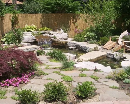 Small Pond Waterfall Design Ideas & Remodel Pictures   Houzz on Small Pond Waterfall Ideas id=68456