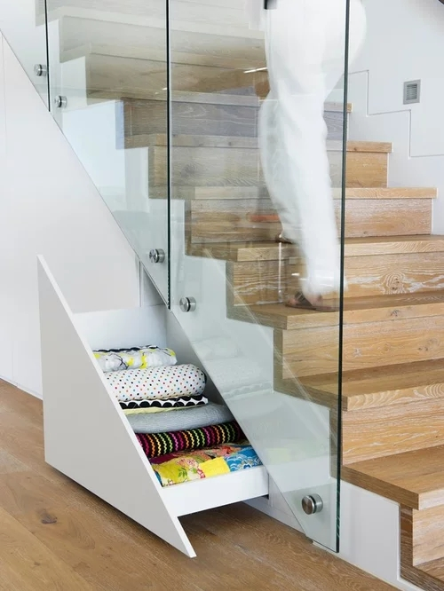 L Shaped Staircase Design Ideas Remodels Photos | L Shape Stair Design