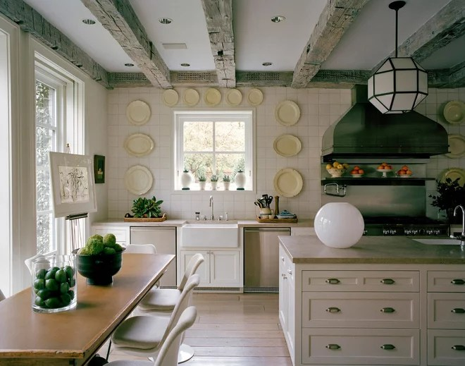 Transitional Kitchen by Rizzoli New York