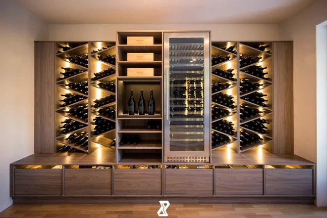 Contemporary Wine Cellar by Aurora Australis Interior