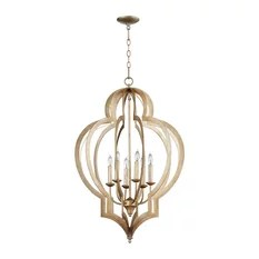 Cyan Design Vertigo 6 Light Gold Chandelier Chandeliers