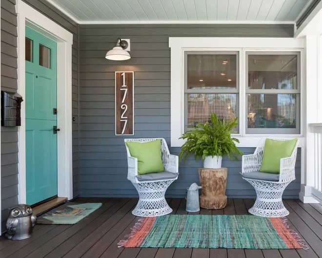 Transitional Porch by Built Custom Homes, LLC