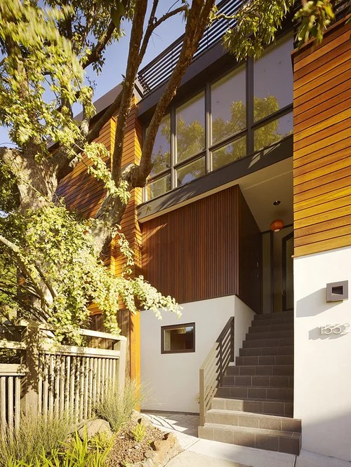 Vertical Wood Siding Home Design Ideas, Pictures, Remodel ... on Contemporary Siding Ideas  id=43181