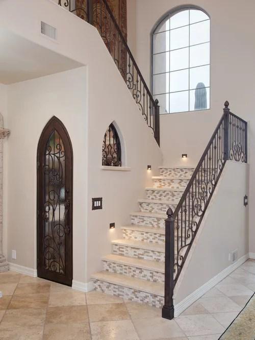 Porcelain Tile Stair Treads Home Design Ideas Pictures   Stair Riser Tiles Designs