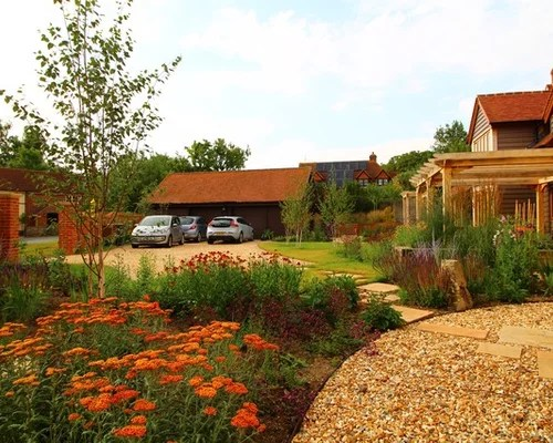 Best Farmhouse Front Yard Landscape Design Ideas & Remodel ... on Farmhouse Yard Ideas id=34661