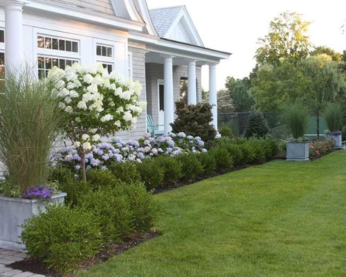 Beach Style Front Yard Landscape Ideas, Designs, Remodels ... on Coastal Backyard Ideas  id=53192