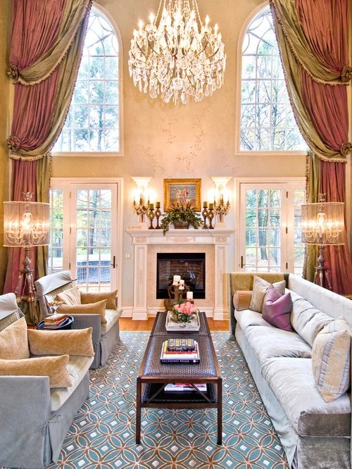 Two Story Drapes Houzz