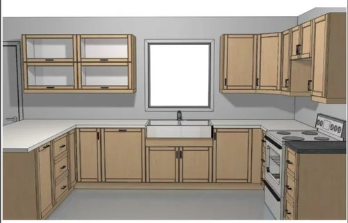 Spacing Of Cabinets Around Windows