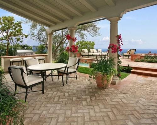 Herringbone Brick Patio   Houzz on Houzz Backyard Patios  id=27859