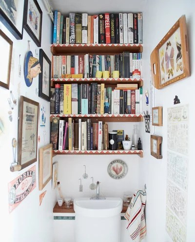 Eclectic Powder Room by Joanna Thornhill Interiors