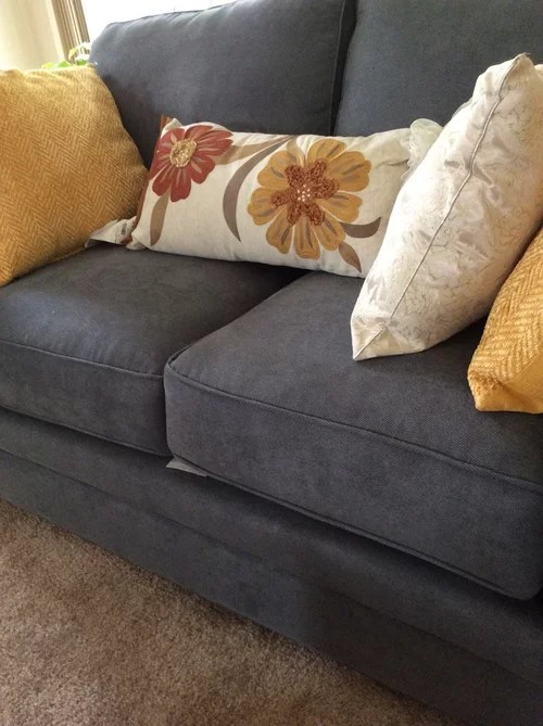 throw pillows for grayish blue couch