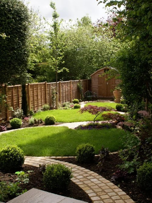 Rectangular Garden | Houzz on Landscaping Ideas For Rectangular Backyard  id=31237