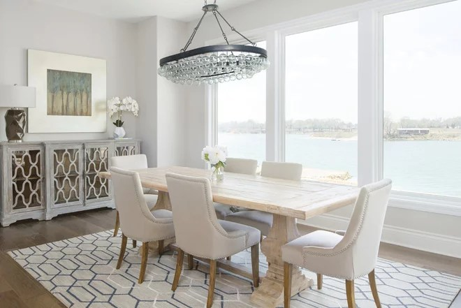 Transitional Dining Room by Craig Sharp Homes, Inc.